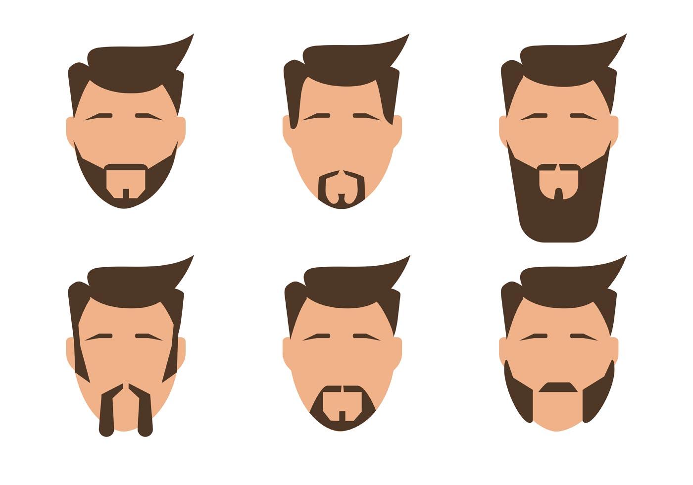 Barba hombres vectores - Descargue Gráficos y Vectores Gratis