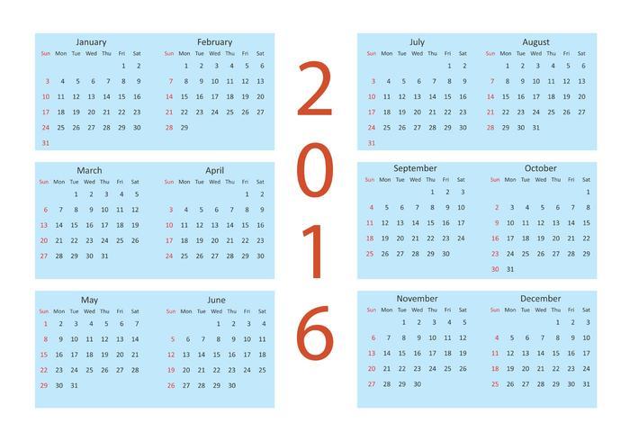Vector Kalender 2016