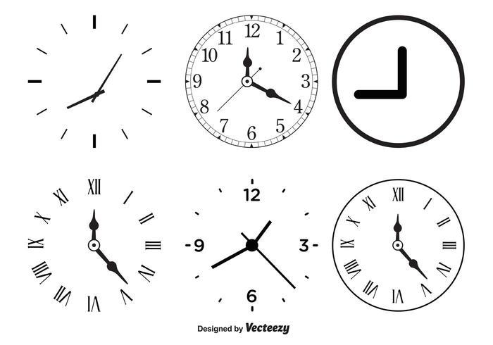Vector Clock Shapes Download Free Vector Art Stock