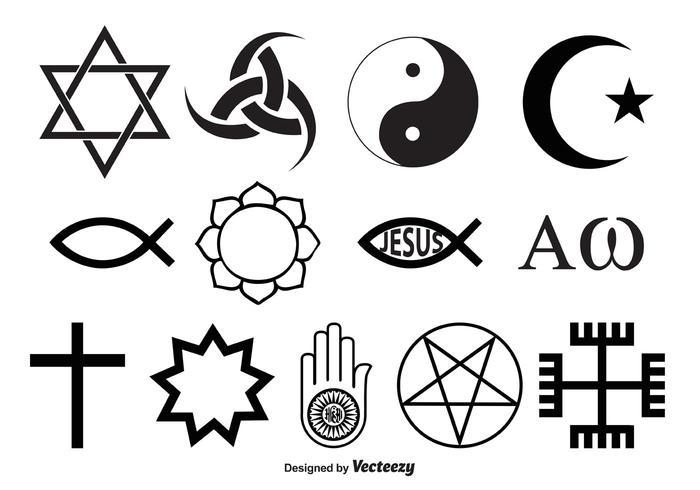 Vetores de símbolos religiosos