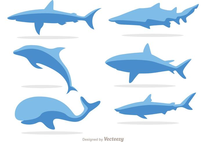 Eenvoudige Zeelevenvectoren
