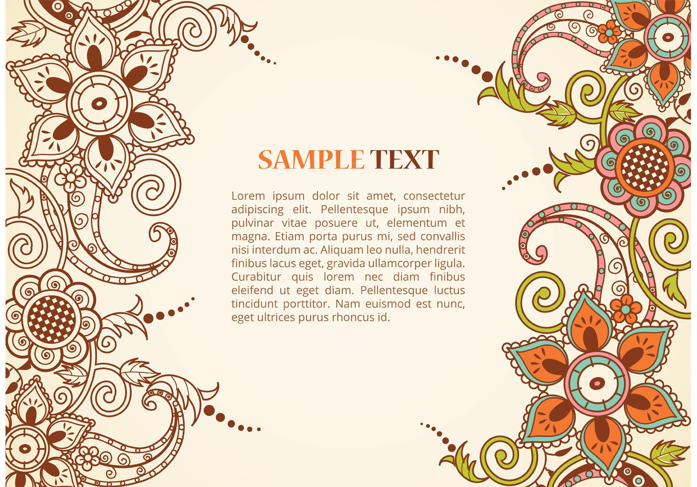 Free Vector Paisley Border Download Free Vector Art
