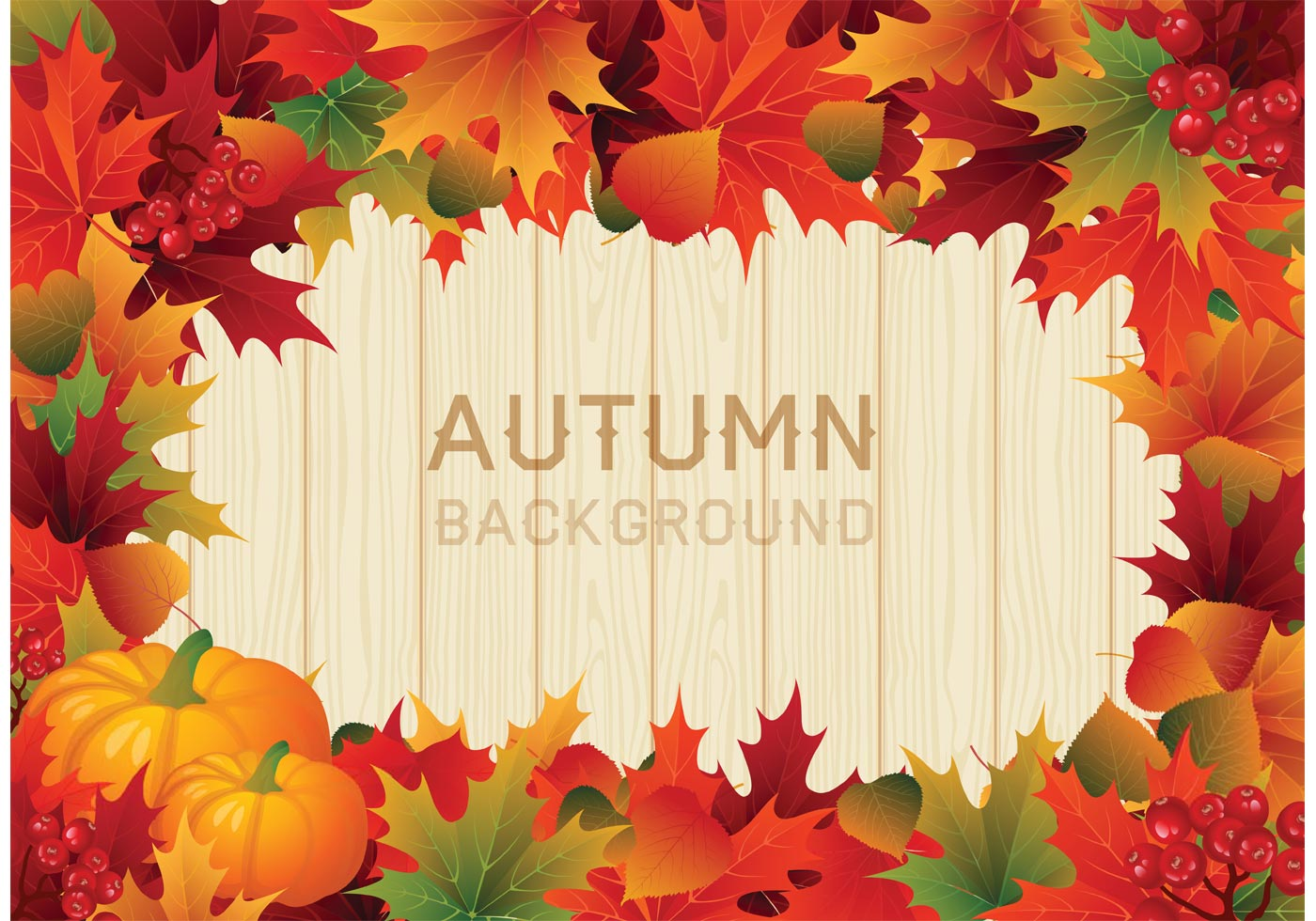 Free Vector Colorful Autumn Leaves Border - Download Free ...