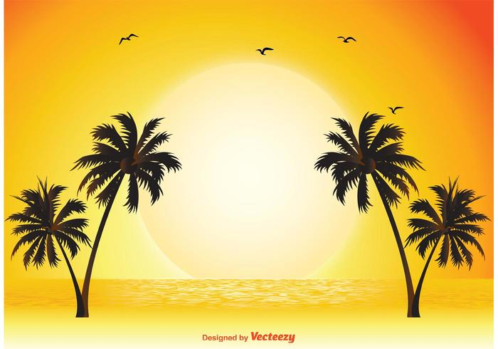 Tropical Scene Illustration