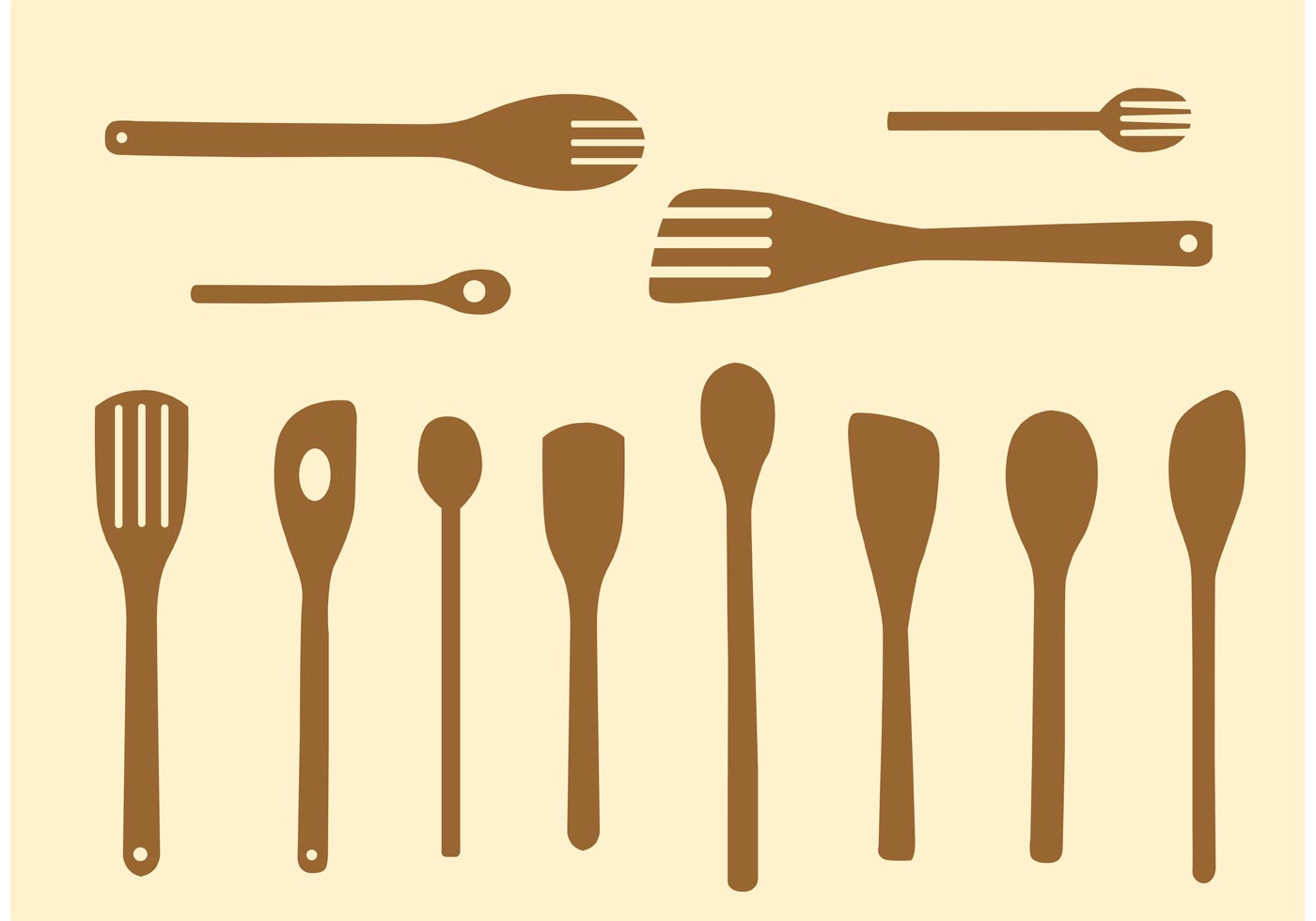 Simple Wooden Spoon Vectors - Download Free Vector Art, Stock Graphics ...
