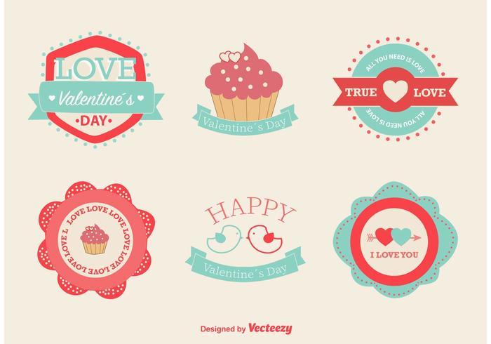 Amore e Valentine Vector etichette