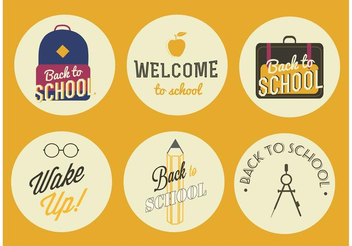 Vector Back to School Badges