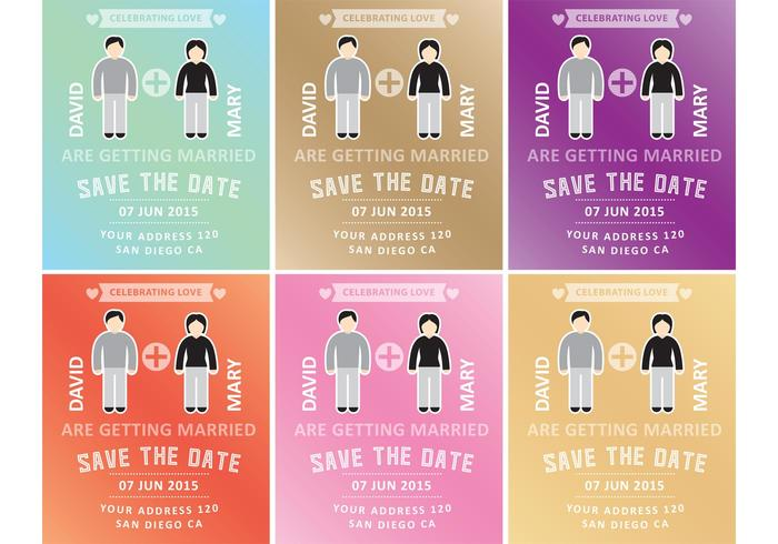 Marriage Invitation Templates vector