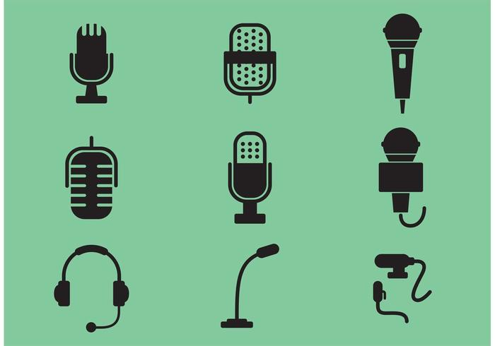 Microphone Vector Icons