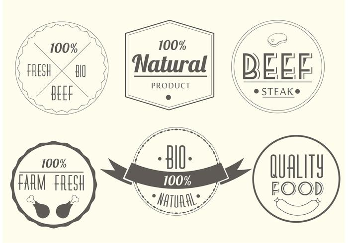 Free Vector Meat Labels