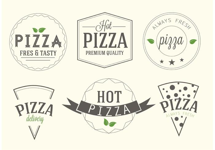 Free Vector Pizza Labels