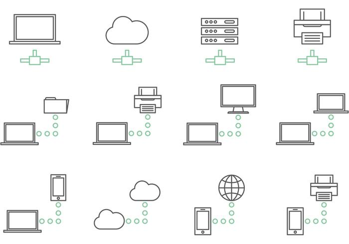 Big Data Network Icon Vectors