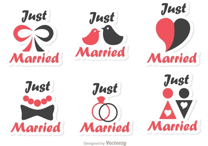Simple, simplemente, casado, vectores