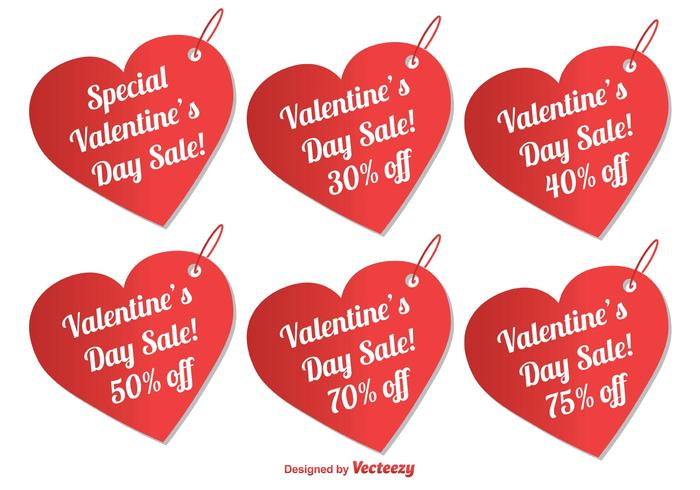 Valentine's Day Sale Tags
