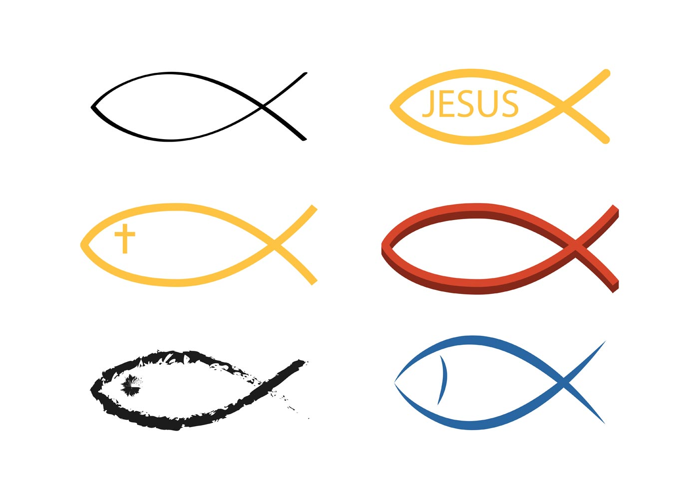 Christian Fish Symbol Free Vector Art 29571 Free Downloads