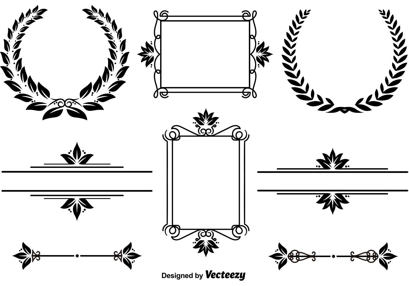 Elegant Frames And Wreaths Download Free Vector Art