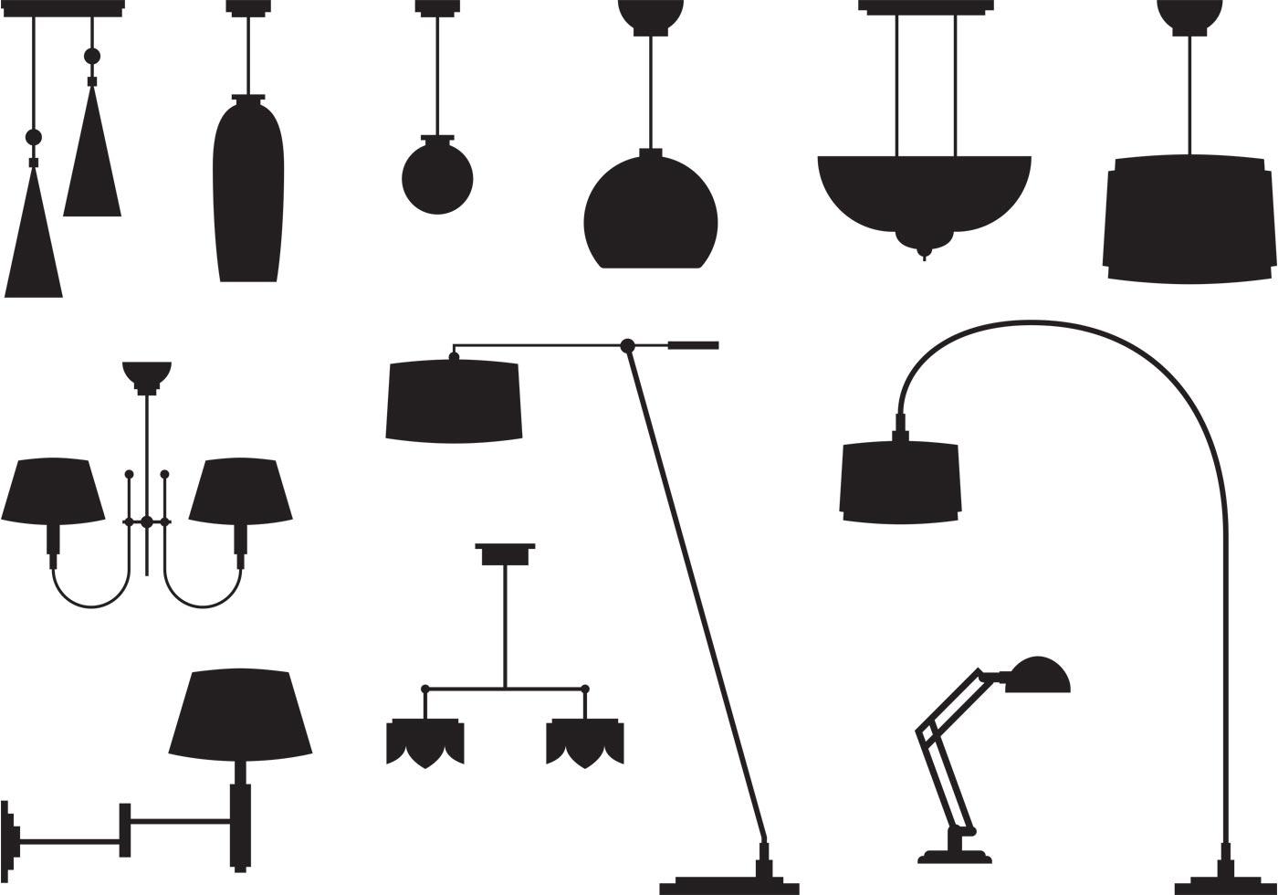 Modern Chandeliers - Download Free Vector Art, Stock ...