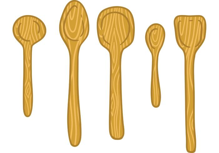 Free wooden spoon vector