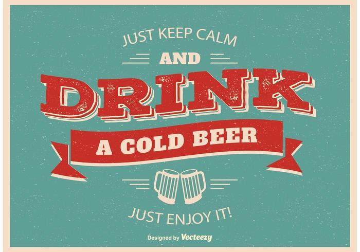 Cartaz tipográfico da cerveja
