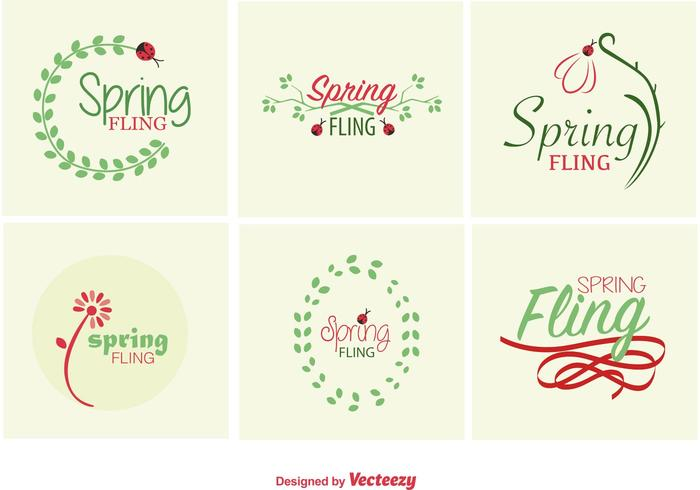 Spring Typographic signs