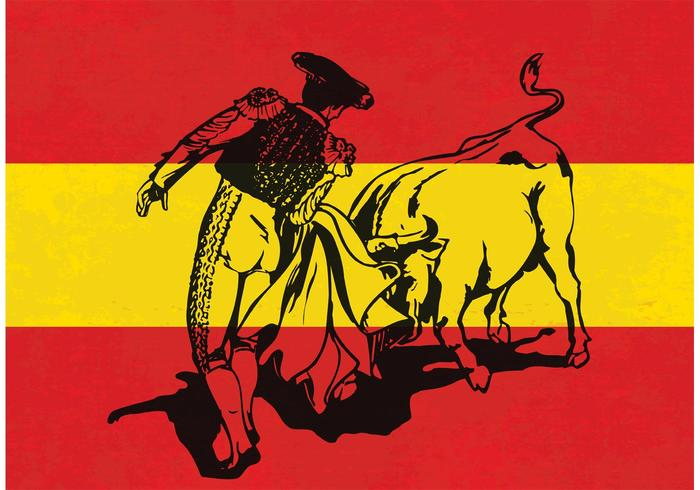 Free Vector Charging Bull In A Bullfight