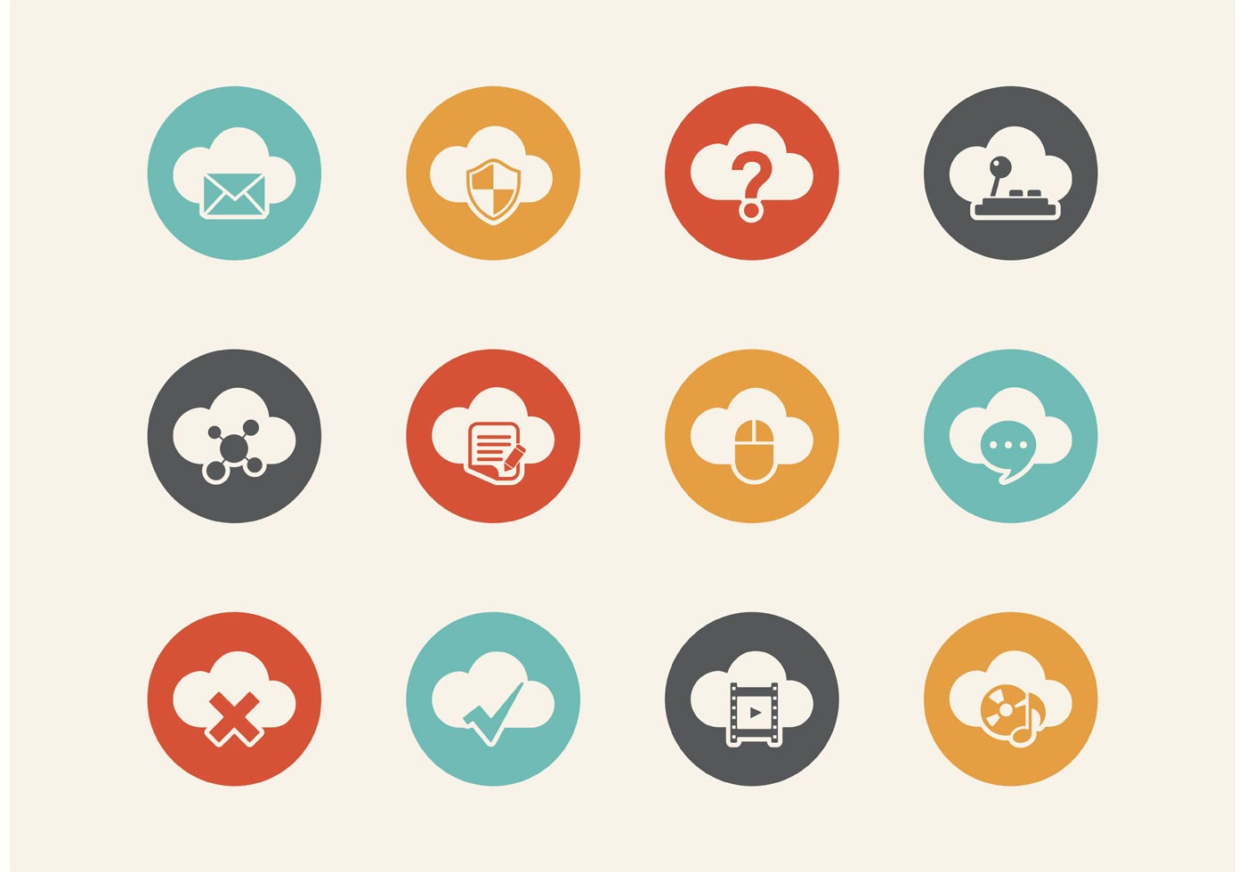 Free Retro Cloud Computing Vector Icons - Download Free ...
