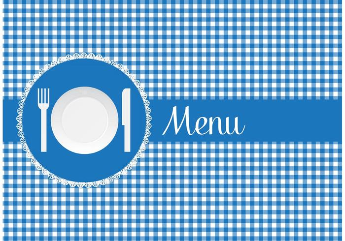 Free Menu Card With Paper Plate Vector