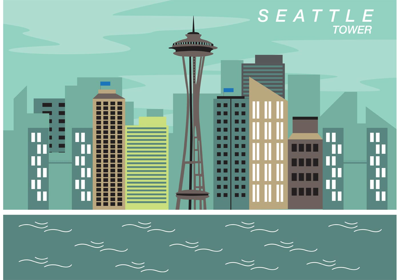seattle space needle vector 3873 free downloads rh vecteezy com seattle space needle vector space needle vector free
