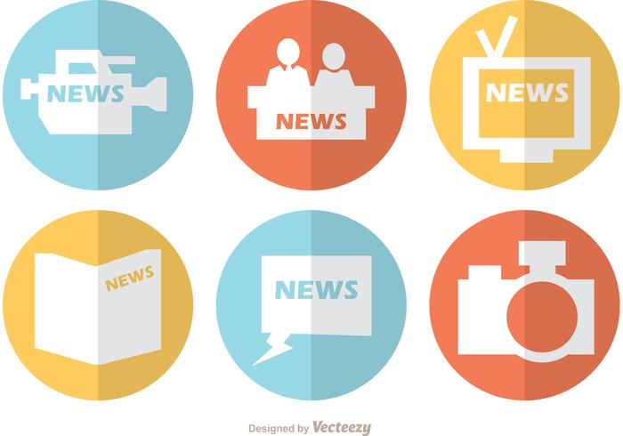 News Flat Icons Vector