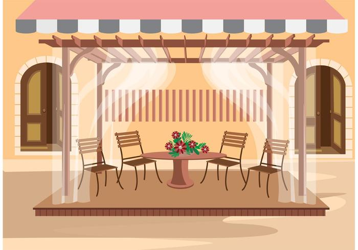 Outdoor cafe vector