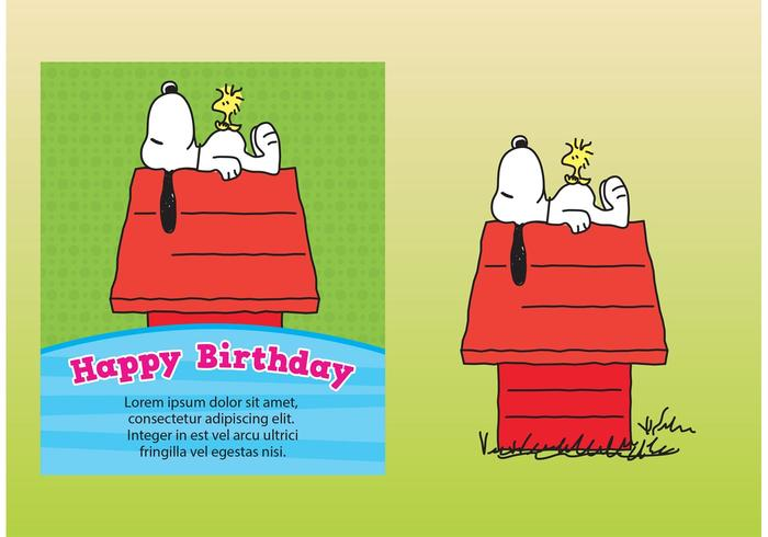 Snoopy Card Vectors
