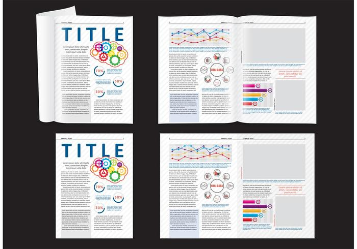 magazine layout free vector art 7611 free downloads