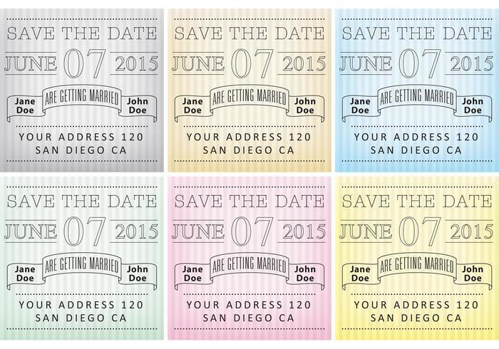 Colorful Striped Invitations