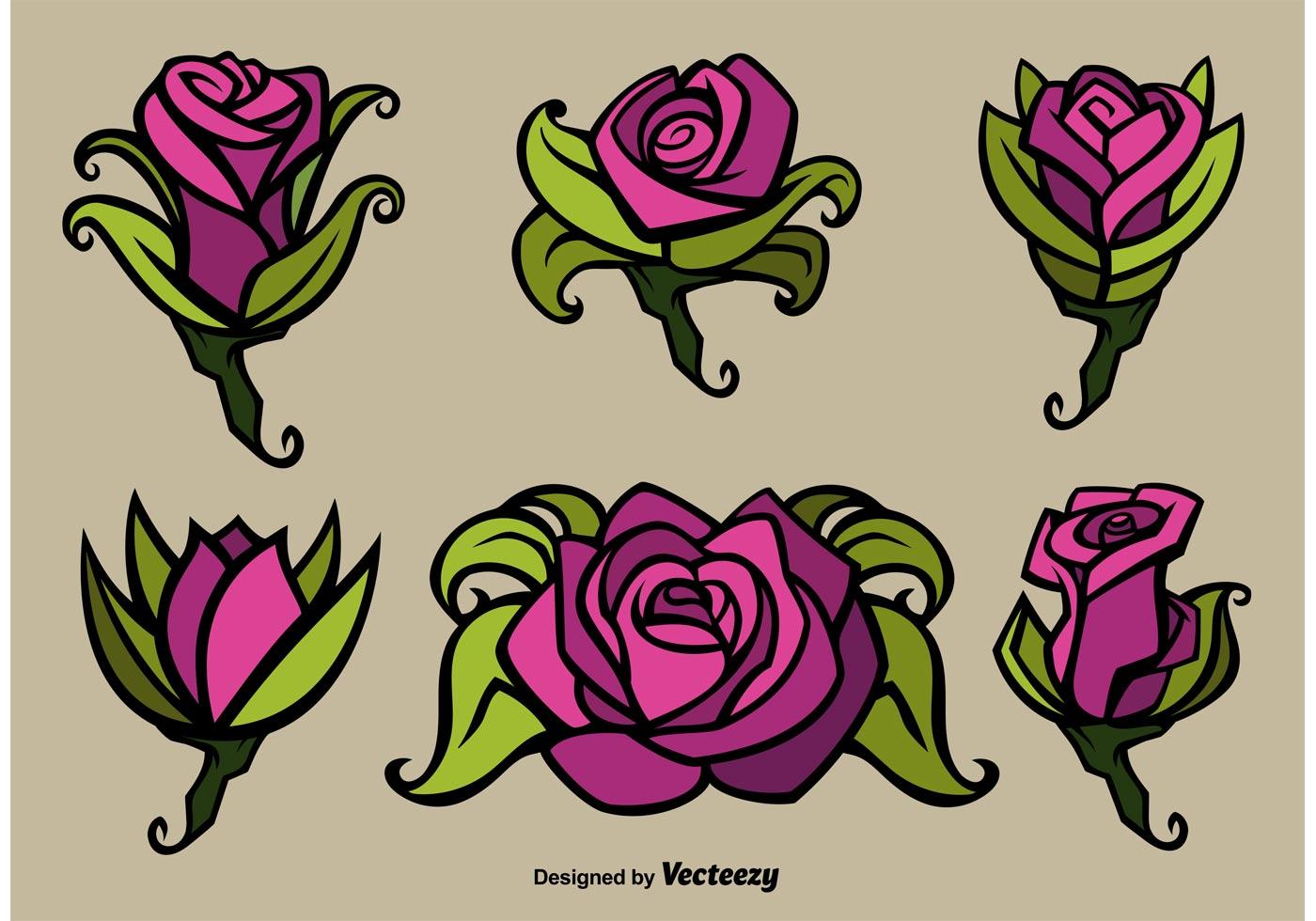 Rose Flower Vector Illustrations - Download Free Vector ...  Rose Flower Vec...