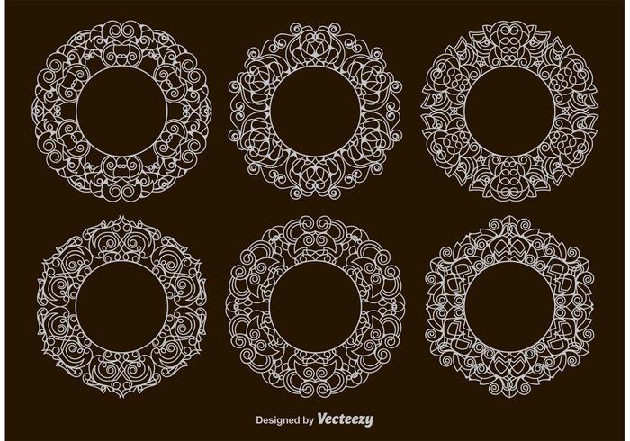 Victoriaanse Circulaire Frames