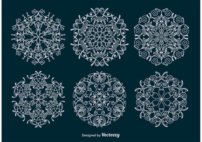 Ornamental Snowflakes Vectors