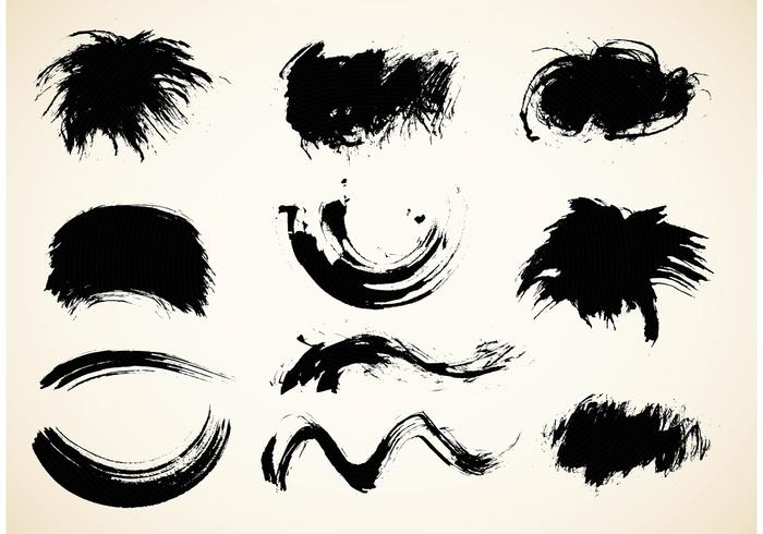 Free Chinese Calligraphy Brush Vector Pack