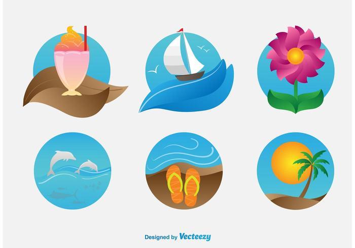 Summer Beach Illustrations