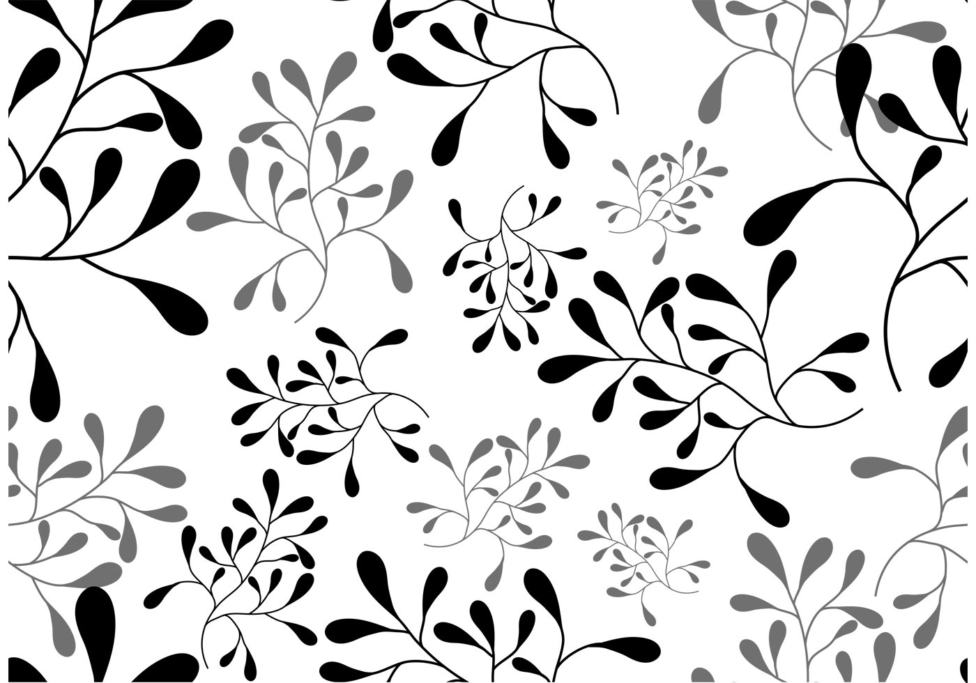 Aninimal Book: Vector Leaf Seamless Pattern - Download Free Vectors ...