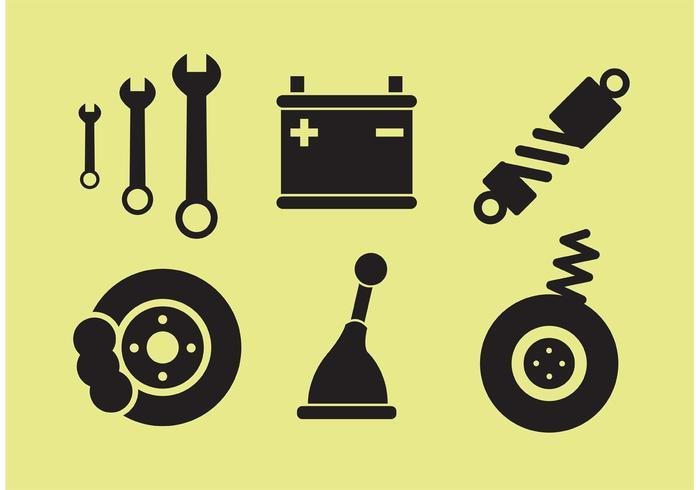 Car Parts Vectors
