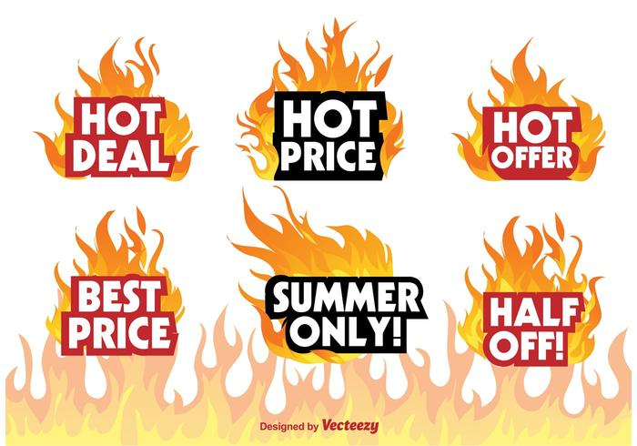 Hot Deal Badge Signs