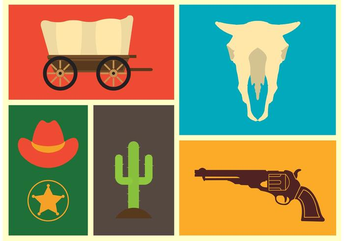 Wild West Vector Icons