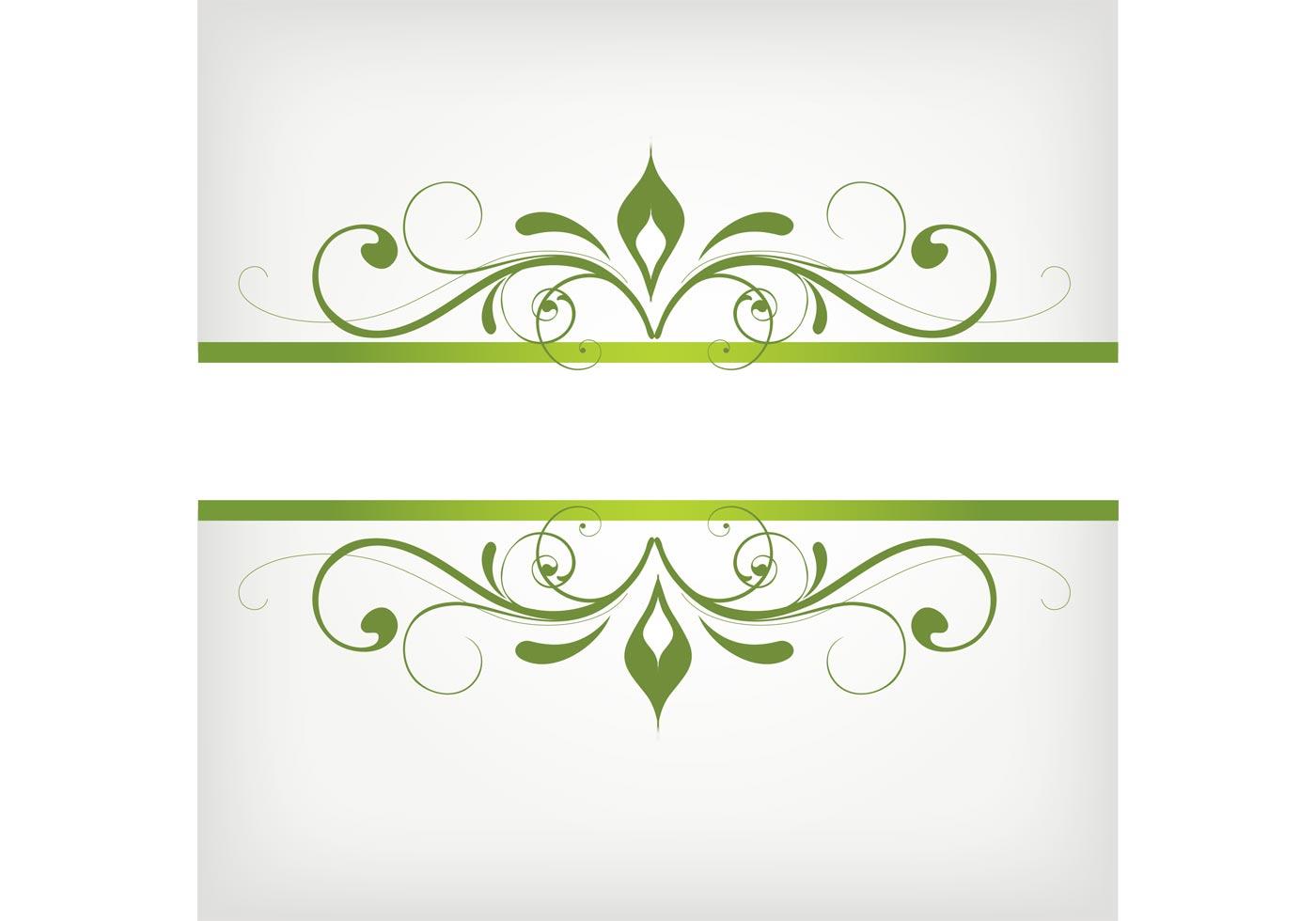 green swirly frame vector