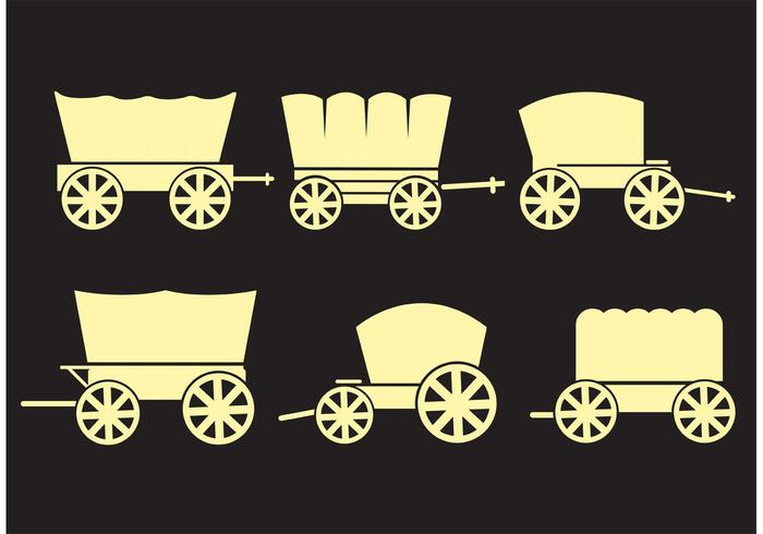 Covered Wagons Vectors