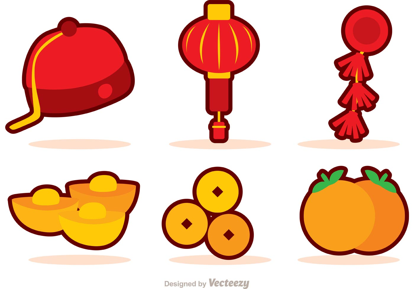 Chinese new year icons vector download free vector art for Chinese vector