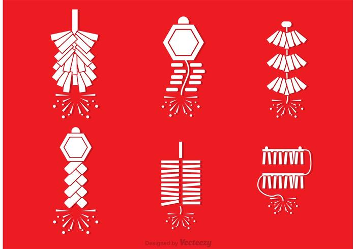 Chinese Fire Work Vectors