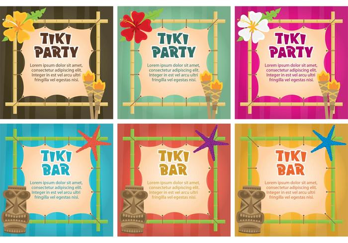 Tiki Torch Invitation Vectors