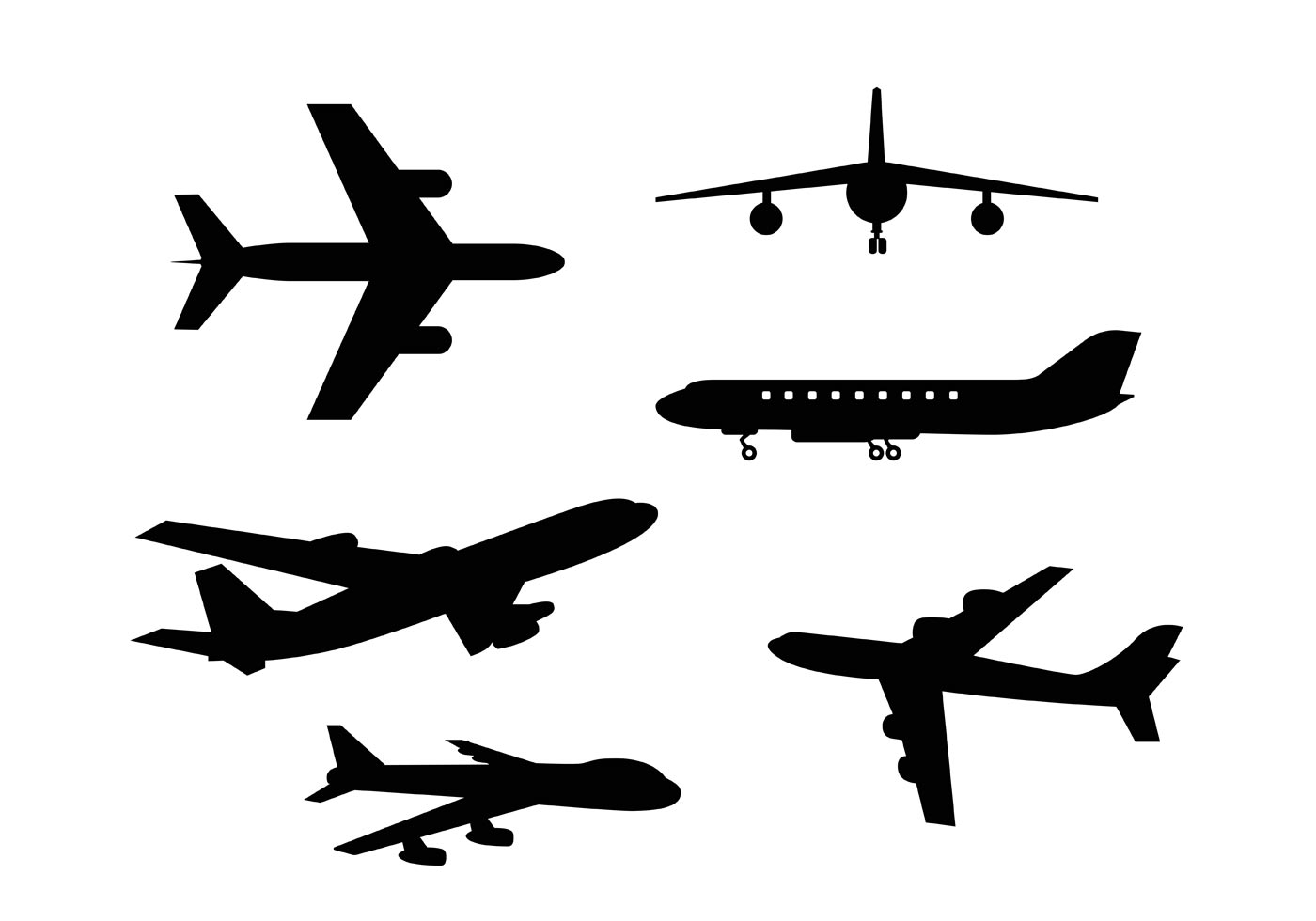 free airplane clipart vector - photo #2