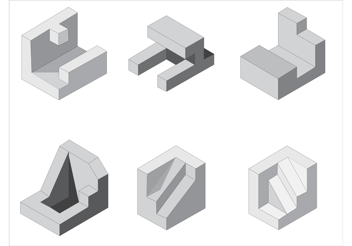 Free Isometric Vector Shapes - Download Free Vector Art, Stock Graphics & Images