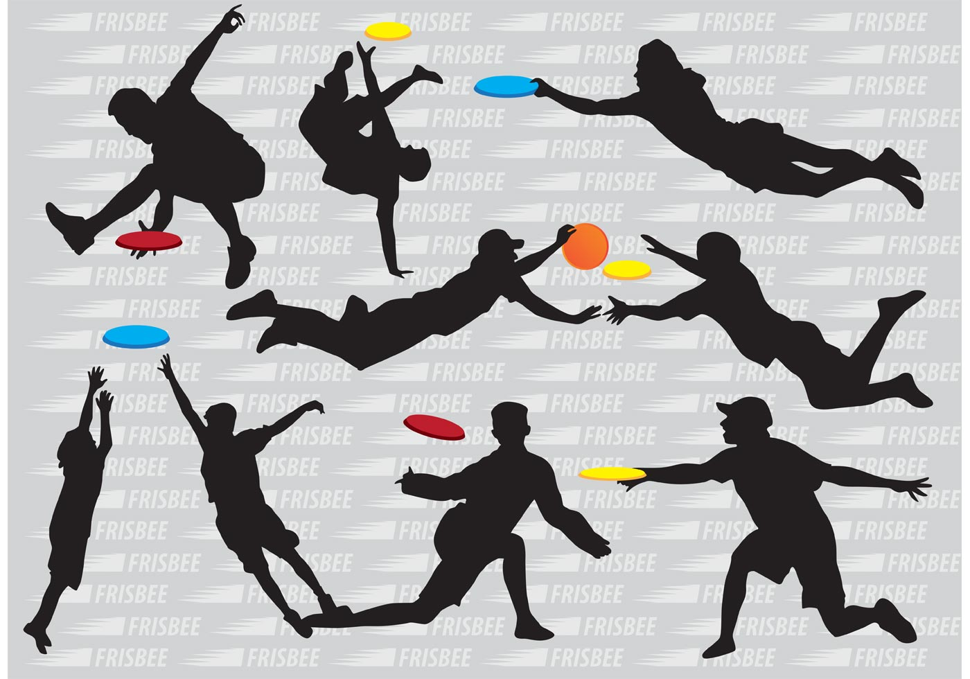 silhouette frisbee players vectors download free vector art  stock graphics   images hockey clipart black and white hockey clip art images